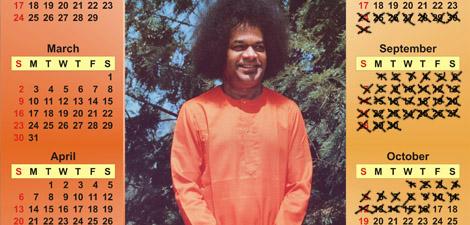 May my calendar grant you inner peace.