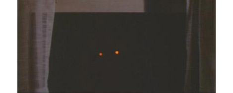 Glowing pig eyes. As scary then as they are today.