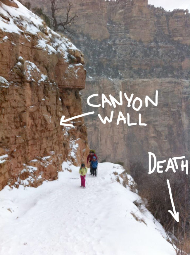 Canyon wall death
