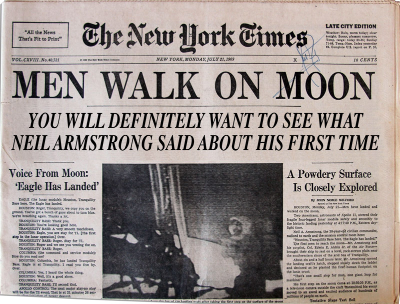 Moon walk headline